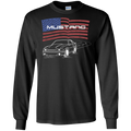 Ford Mustang Foxbody 5.0 GT Notch Cobra American Flag Long Sleeve T-Shirt