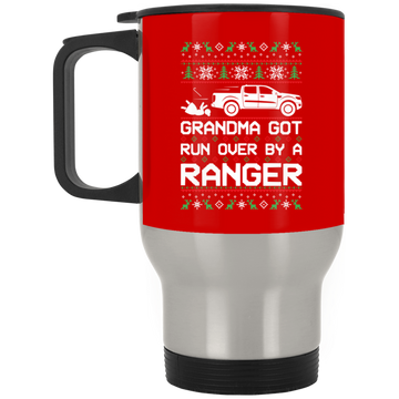 Wheel Spin Addict Ranger Truck Christmas Stainless Travel Mug