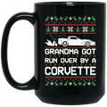Wheel Spin Addict Corvette C6 Christmas 15 oz. Black Mug
