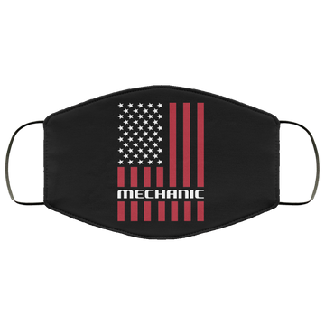 Mechanic Automotive American Flag Face Mask