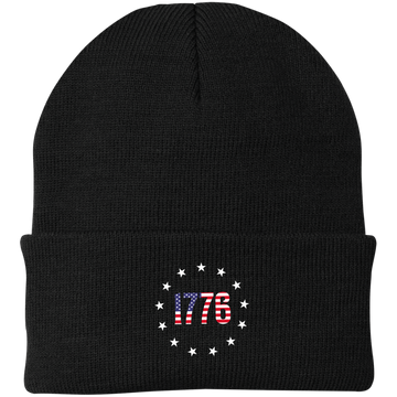1776 Betsy Ross American Flag Beanie Cap