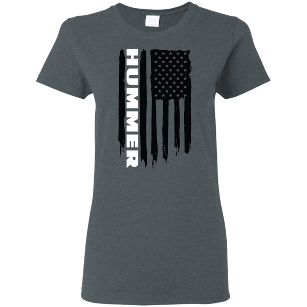 Hummer H1 H2 H3 American Flag Ladies' T-Shirt