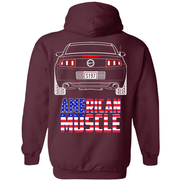 S197 Ford Mustang American Muscle Pullover Hoodie 2013 2014