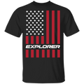 Explorer SUV American Flag USA T-Shirt