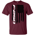F-250 F250 Ford Truck Super Duty Diesel Power Stroke  American Flag T-Shirt New