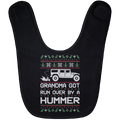 Wheel Spin Addict Hummer H1 Christmas Baby Bib