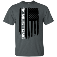 Ford Mustang American Flag T-Shirt Foxbody New Edge GT 5.0 Coyote S197 S550 SN95 New