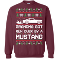 Ford Mustang Classic Ugly Christmas Grandma Got Run Over by a Mustang Pullover Sweatshirt