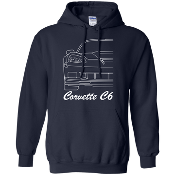 Chevy Corvette C6 Outline Pullover Hoodie