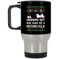 Wheel Spin Addict Motorcycle Christmas Stainless Travel Mug