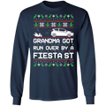 Ford Fiesta ST Ugly Christmas Grandma Got Run Over Long Sleeve T-Shirt