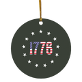 1776 Betsy Ross American Flag USA Circle Ornament