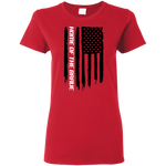 Home of the Brave American Flag Ladies'  T-Shirt