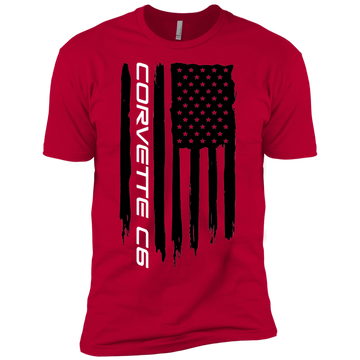 Youth Corvette C6American Flag Boys' Cotton T-Shirt