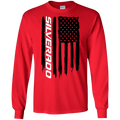 Chevy Silverado 1500 2500 3500 American Flag T-Shirt Long Sleeve