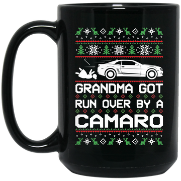 Wheel Spin Addict Camaro SS RS Christmas 15 oz. Black Mug