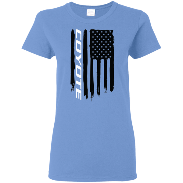 Coyote Ford Mustang S550 S197 5.0 GT American Flag Ladies' T-Shirt
