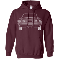 Classic Fastback Outline Ford Mustang Hoodie