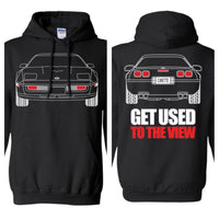 C4 Corvette Outline Double Sided Hoodie