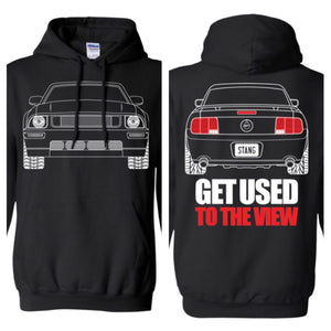 S197 Ford Mustang GT Outline 2005-2009 Ford Mustang Hoodie
