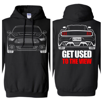 S550 Debadged/Ecoboost Ford Mustang Outline Ford Mustang Hoodie
