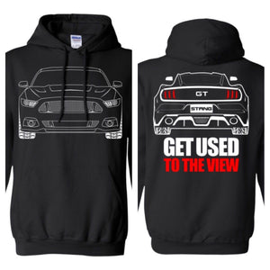 S550 GT Ford Mustang Outline Ford Mustang Hoodie