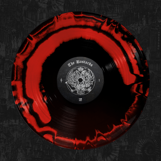 Palaye Royale - 'The Bastards' Vinyl Red & Black Side A/B Merge