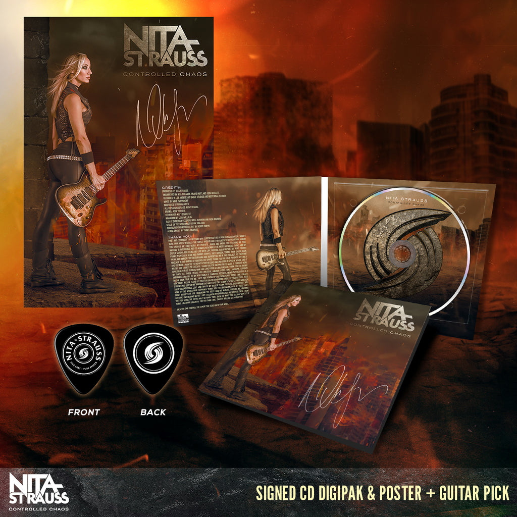 Nita Strauss - 'Controlled Chaos' Signed Poster & CD Pre-Order Bundle
