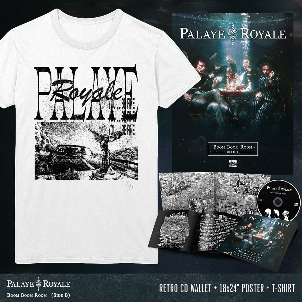 Palaye Royale - 'Boom Boom Room (Side B)' You'll Be Fine Tee Pre-Order Bundle
