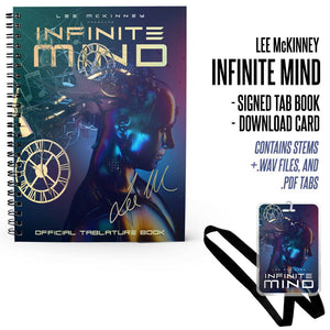 Lee McKinney - 'Infinite Mind' Signed Tablature Book & Laminate Bundle