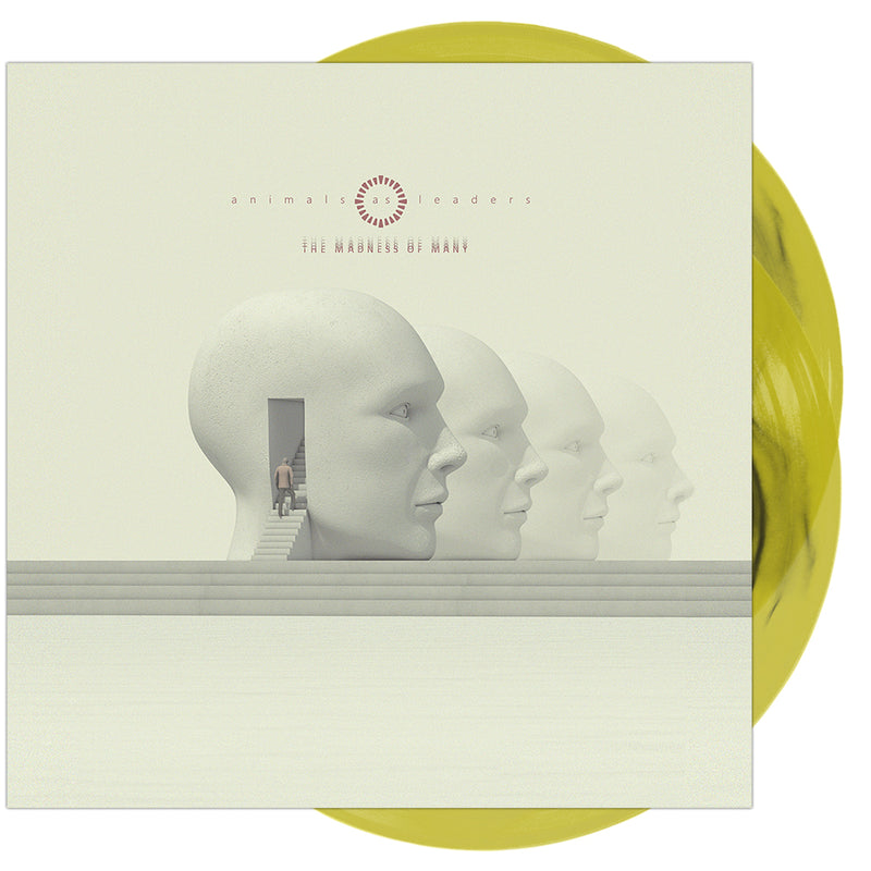 Animals As Leaders - 'The Madness Of Many' Black Inside Transparent Lemon Yellow Vinyl