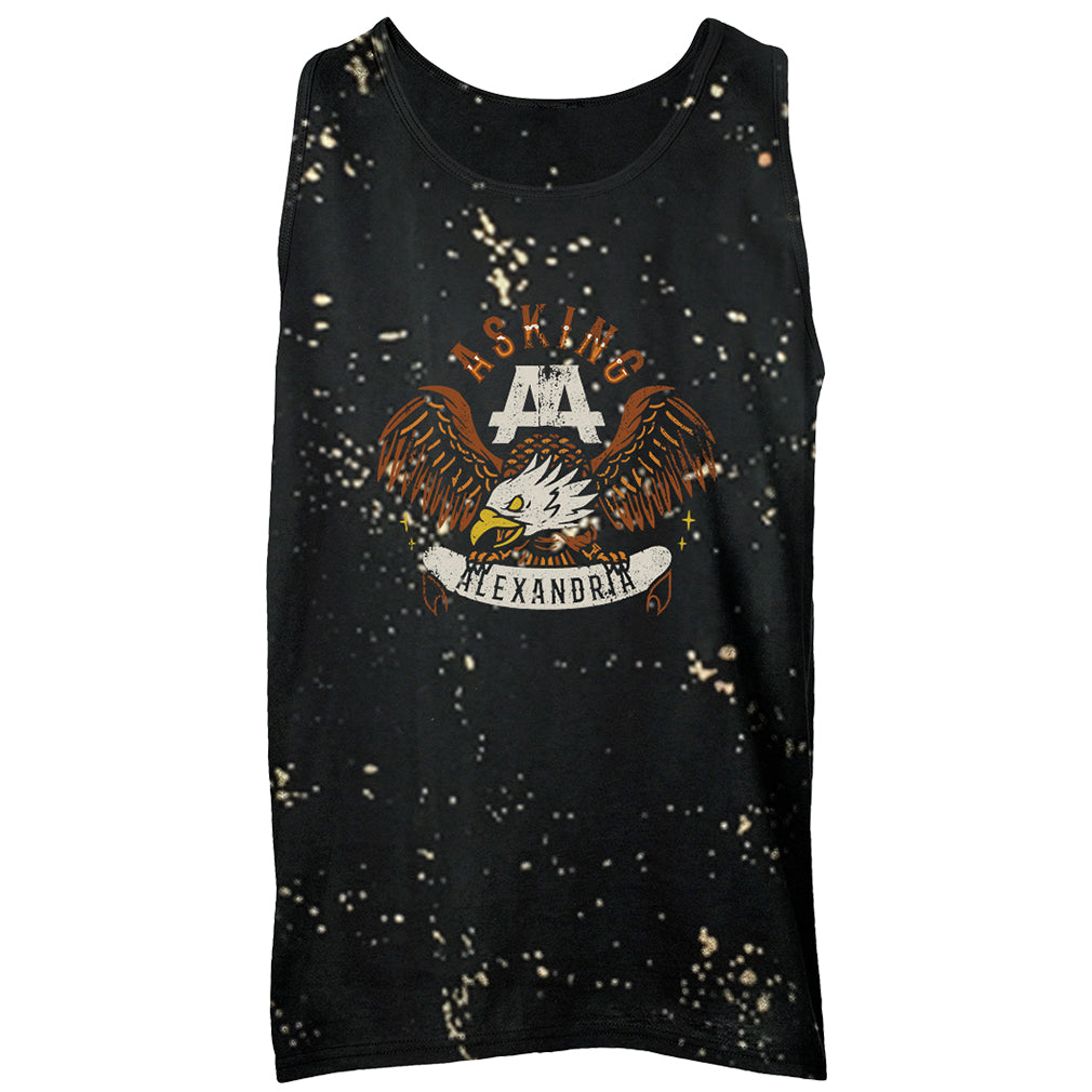Asking Alexandria - Retro Eagle Splatter Dye Tank