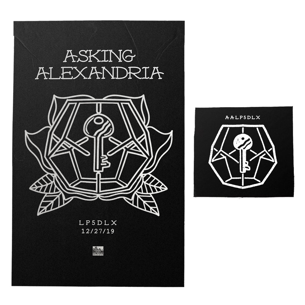 Asking Alexandria - 'LP5DLX' Black Screen Printed Poster Bundle