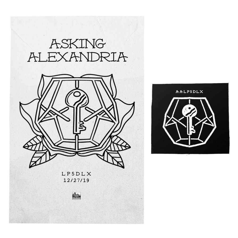 Asking Alexandria - 'LP5DLX' White Screen Printed Poster Bundle