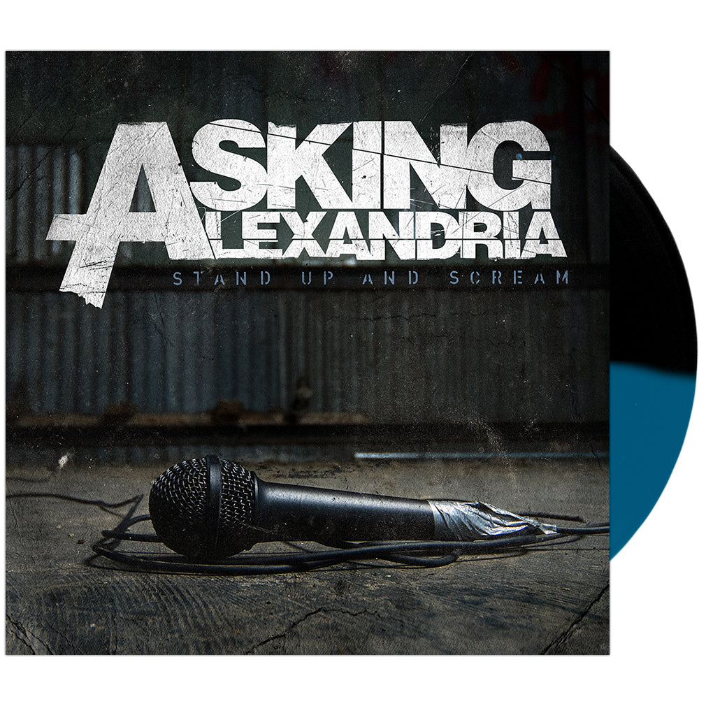 Asking Alexandria - 'Stand Up And Scream' Blue/Black Half/Half Vinyl