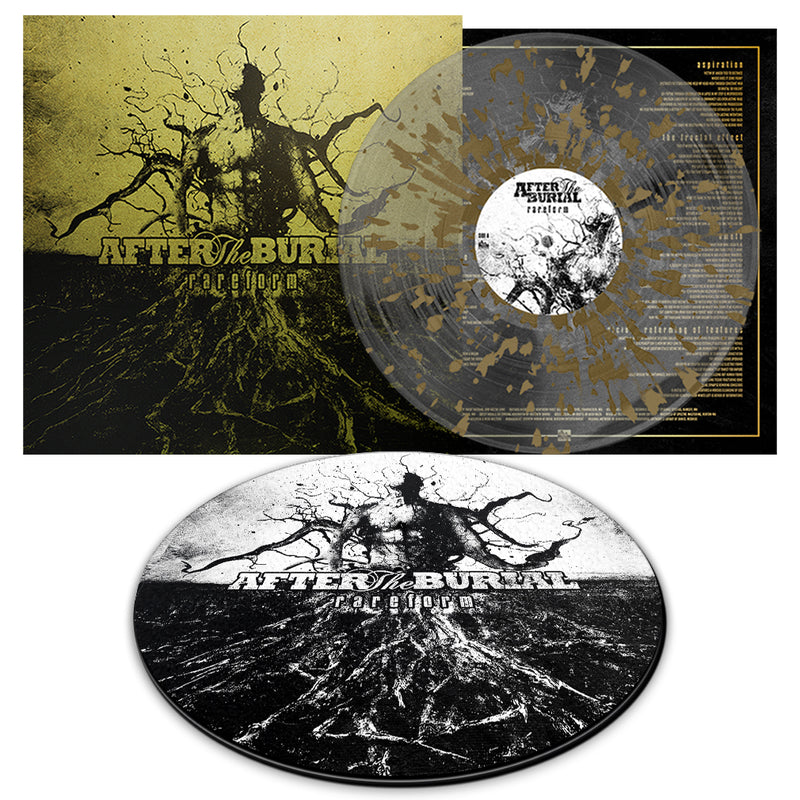 After The Burial - 'Rareform' 10 Year Anniversary Transparent Clear w/Gold Splatter Bundle