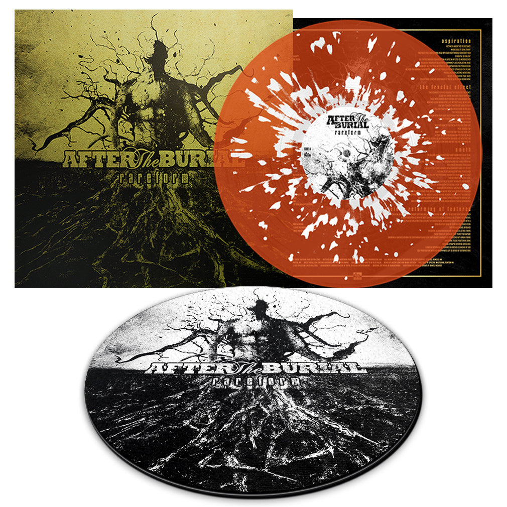 After The Burial - 'Rareform' 10 Year Anniversary Transparent Orange w/White Splatter Bundle