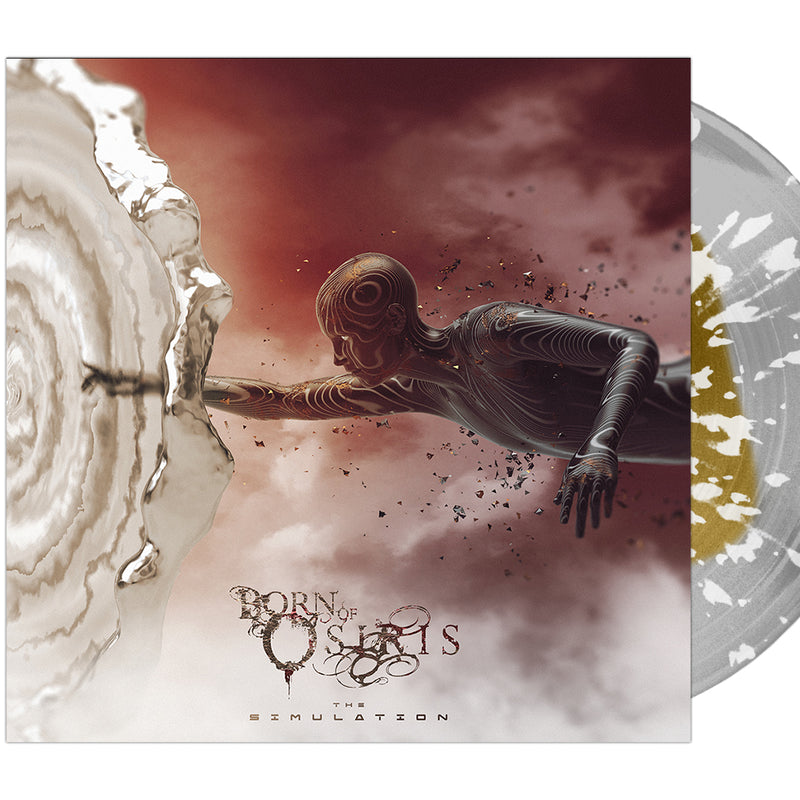 Born Of Osiris - 'The Simulation' Gold Inside Clear w/ White Splatter Vinyl