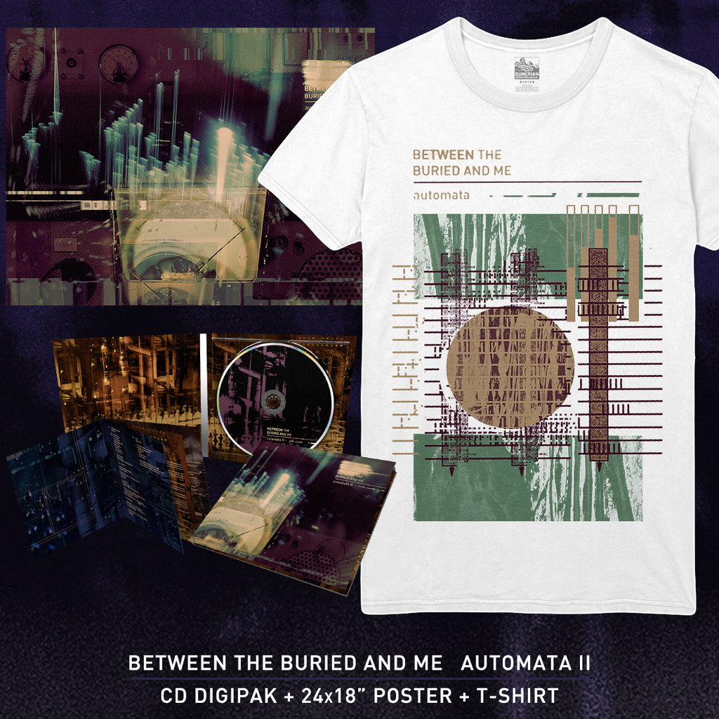 Between The Buried And Me - 'Automata II' Album Art Tee Pre-Order Bundle