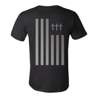 Crosses - Flag T-Shirt (Black/Silver)
