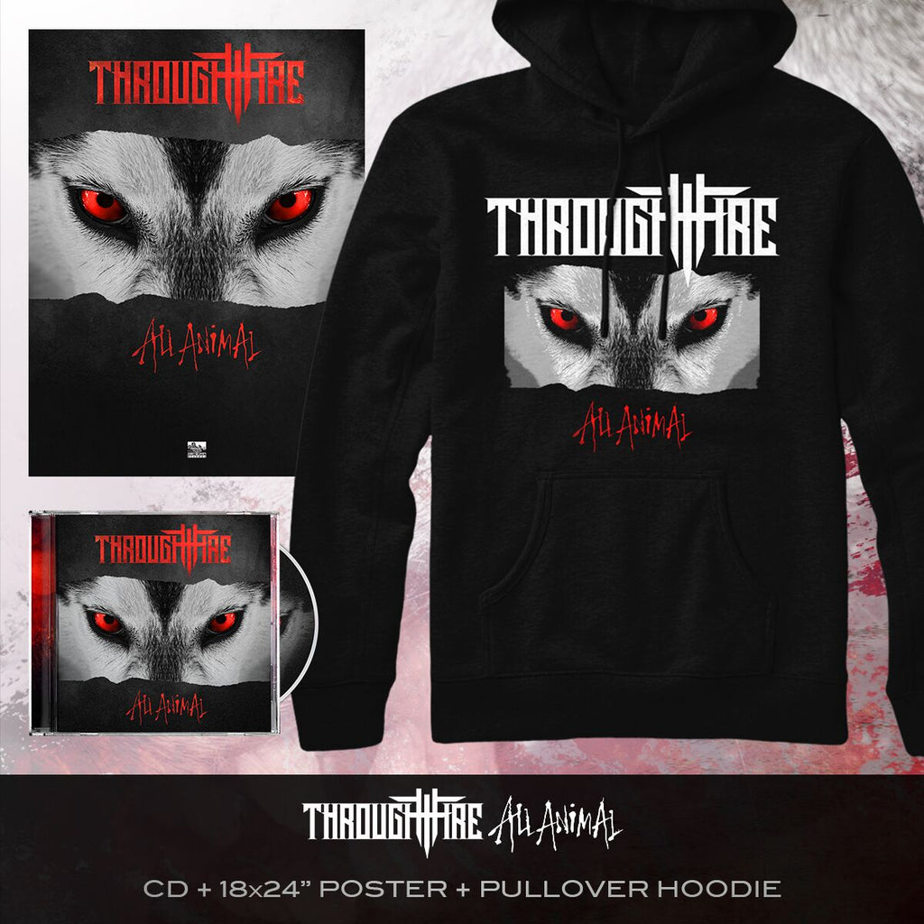 Through Fire - 'All Animal' Album Art Hoodie Pre-Order Bundle