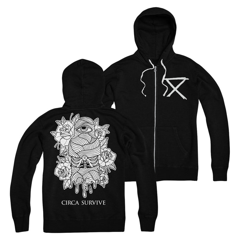 Circa Survive - Wrapped Eye Zip Up Hoodie