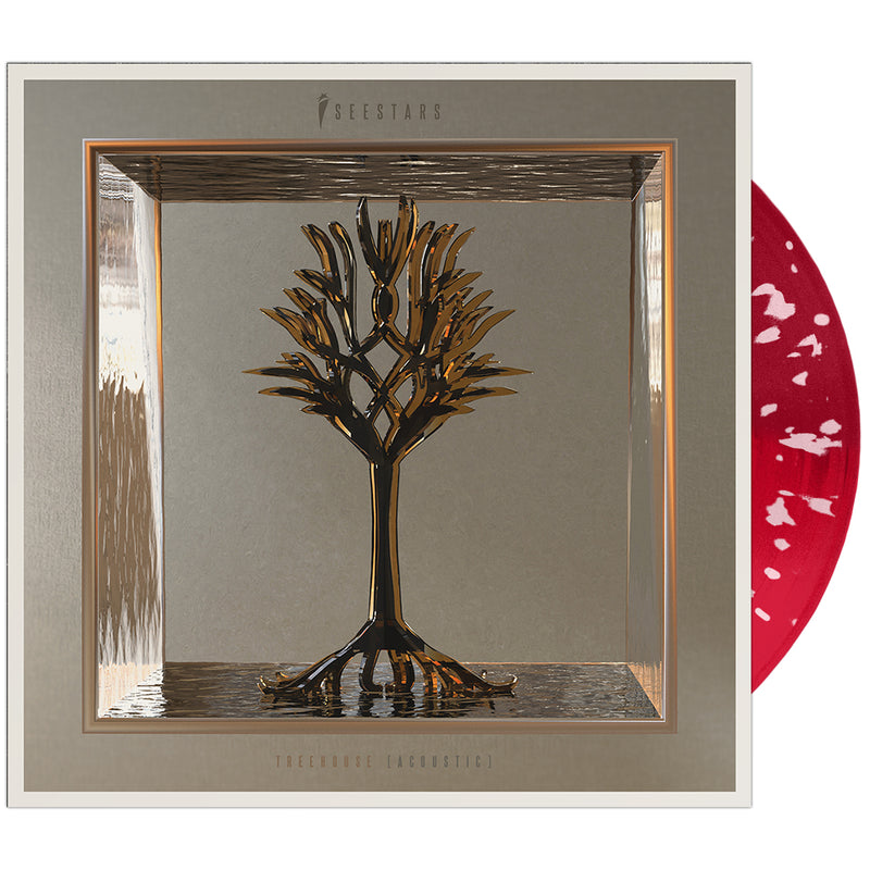 I See Stars - 'Treehouse (Acoustic)' Half & Half Dark & Light Opaque/Red w/Pink Splatter Vinyl