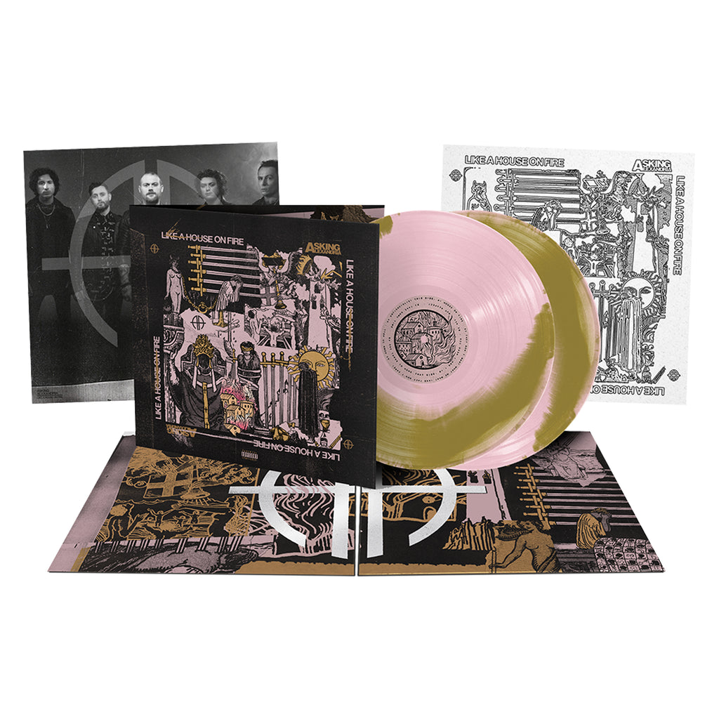 Asking Alexandria - 'Like A House On Fire' Pink & Gold Side A/B 2xLP