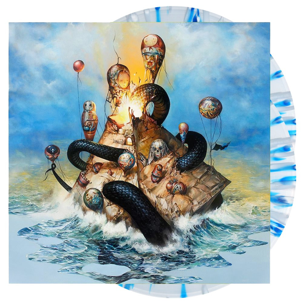 Circa Survive - 'Descensus' Blue and White Swirl Vinyl