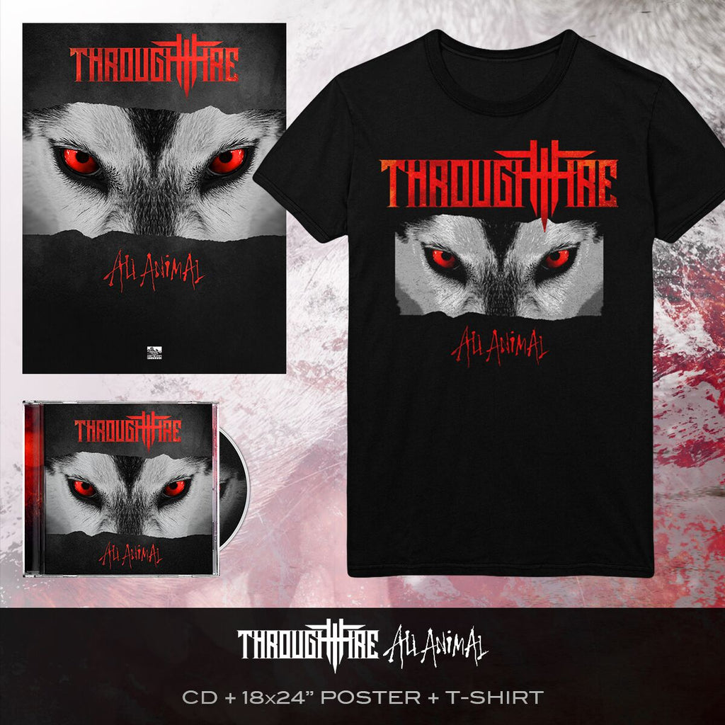 Through Fire - 'All Animal' Album Art Tee Pre-Order Bundle
