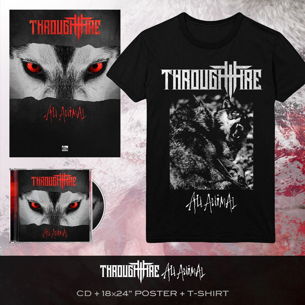 Through Fire - 'All Animal' Wolves Tee Pre-Order Bundle
