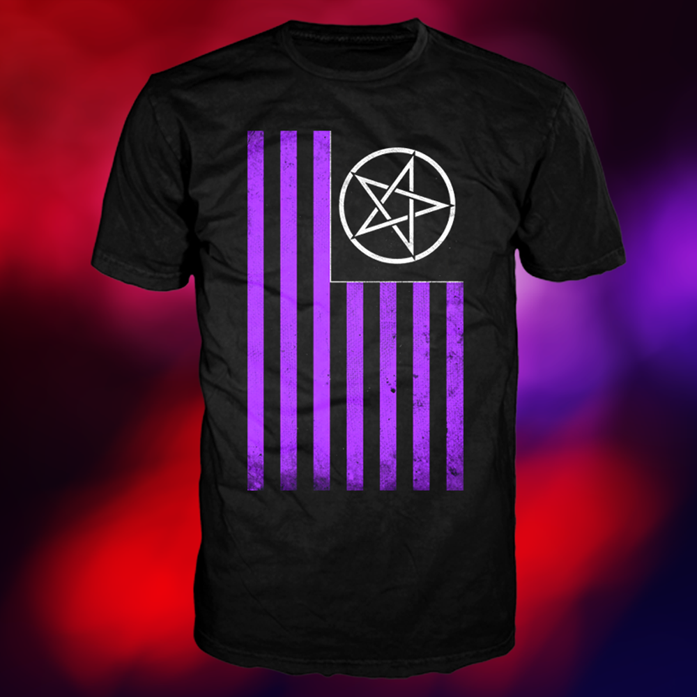 American Satan - Purple Flag T-Shirt (Black)