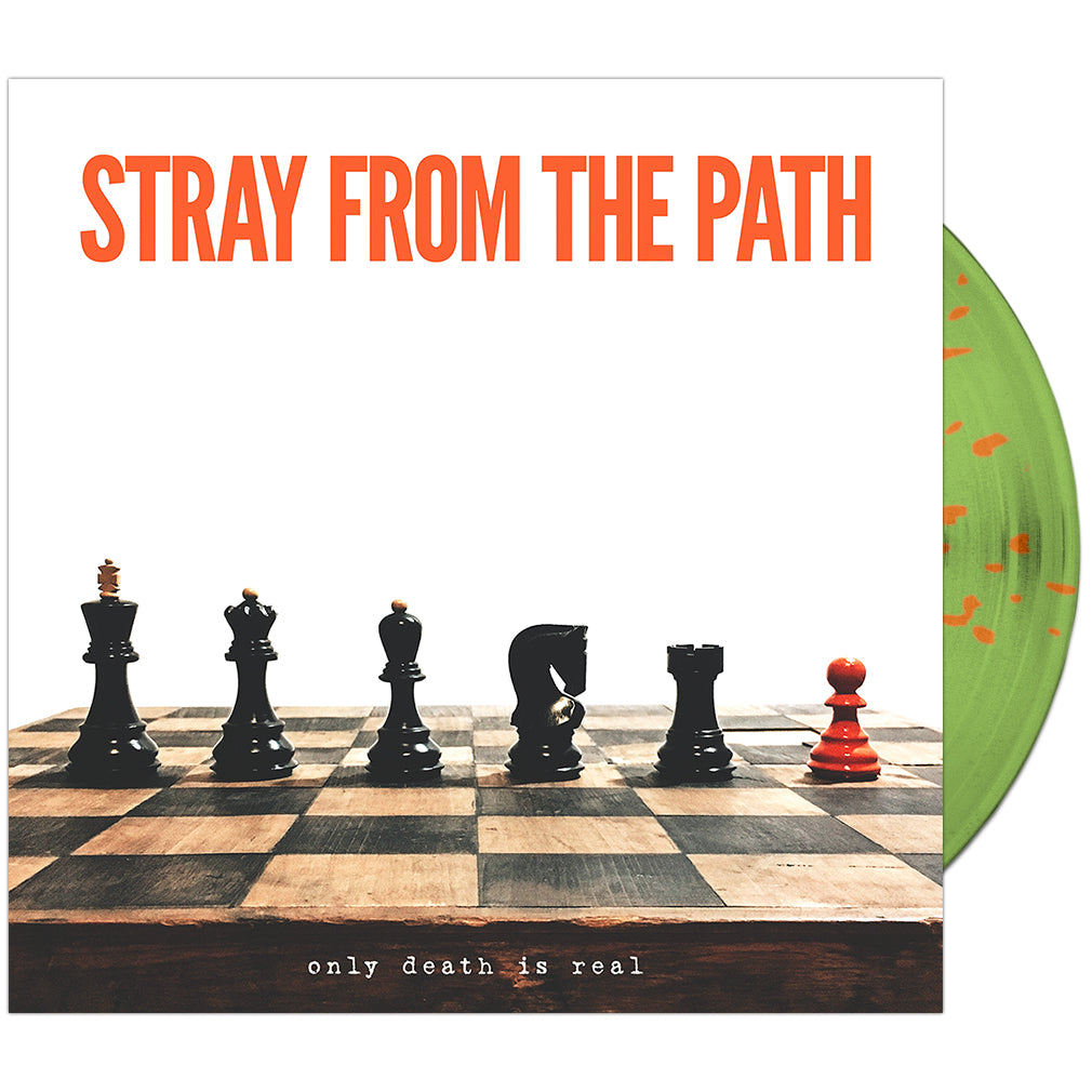 Stray From The Path - 'Only Death Is Real' Green w/Orange Splatter
