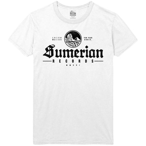 Sumerian Records 10 Year - Old School Sumerian Tee